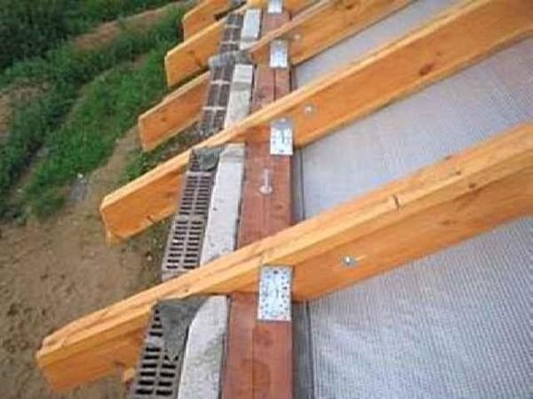 стропила для односкатной крыши гаража фото