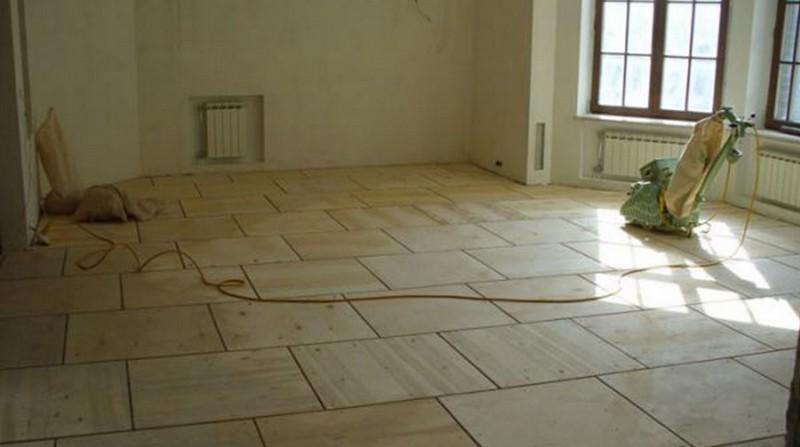 как выровнять бетонный пол без стяжки фото