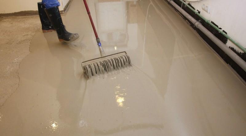 как выровнять бетонный пол фото
