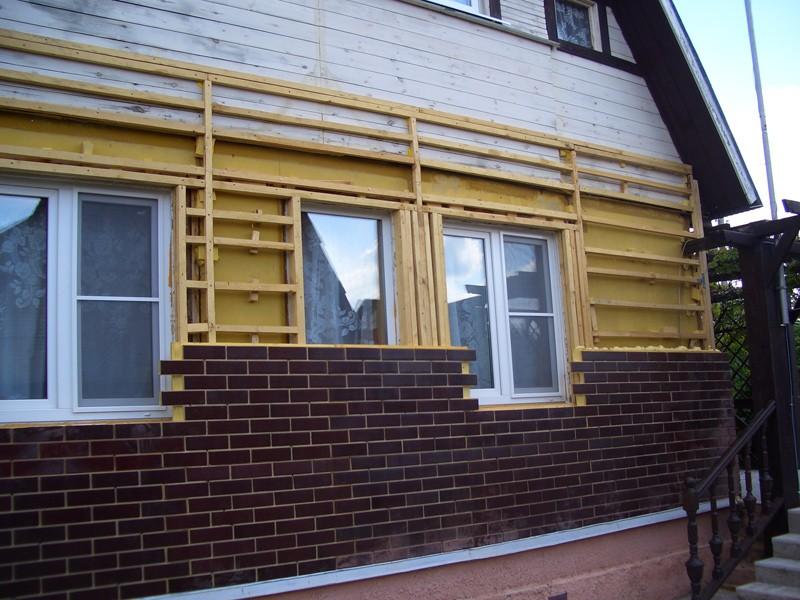 теплоизоляция фасада дома снаружи фото