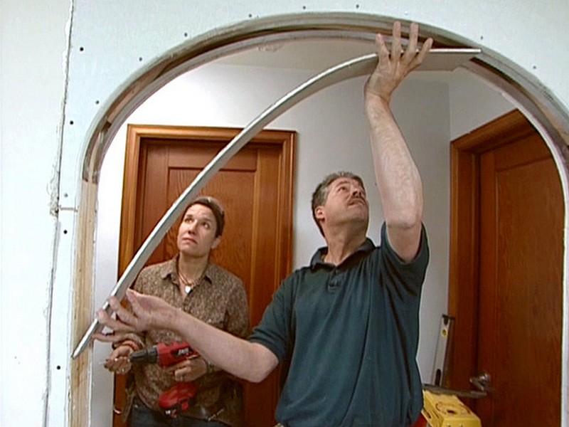 арка из гипсокартона в дверном проеме фото