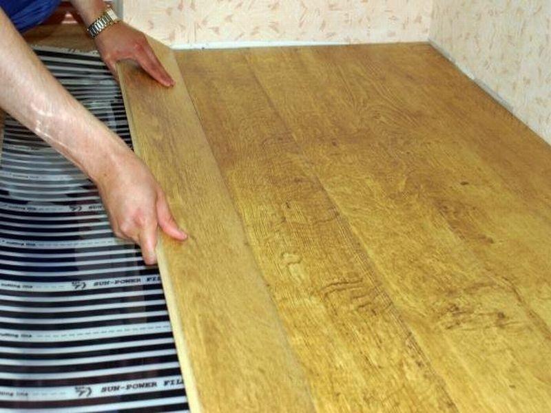 теплые полы в деревянном доме под ламинат фото