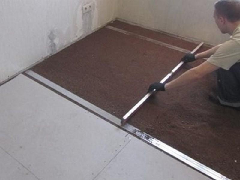 виды стяжек для пола в квартире - сухая стяжка фото