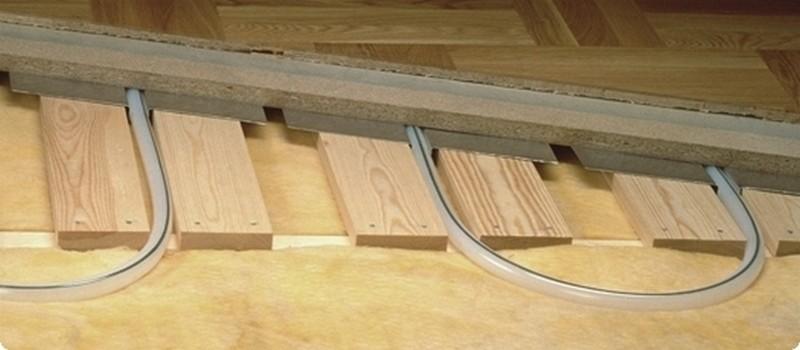 водяные теплые полы в деревянном доме фото
