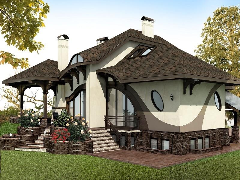 современный дом своими руками фото