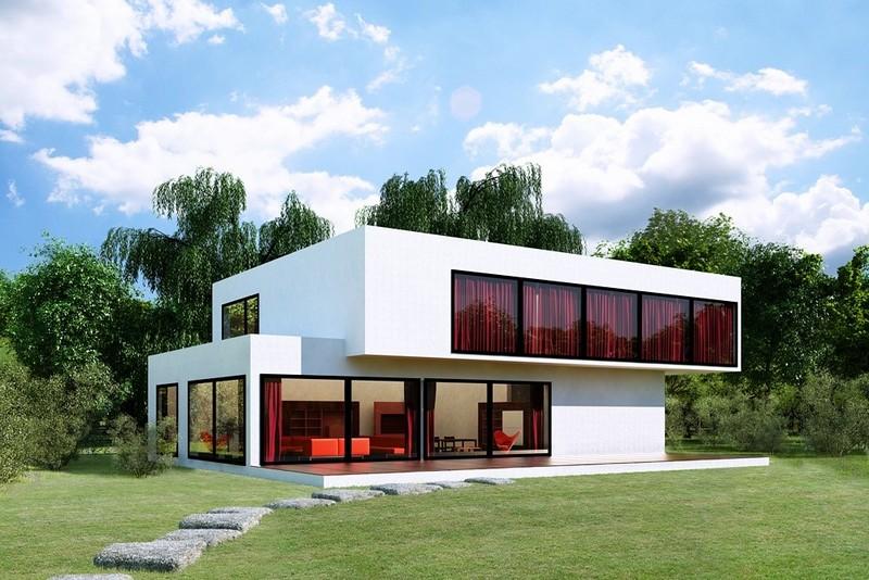 строительство современного дома фото