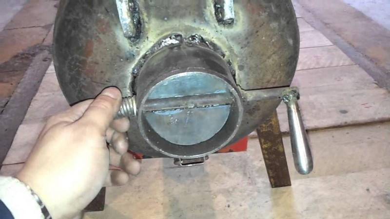 мангал барбекю из газового баллона фото