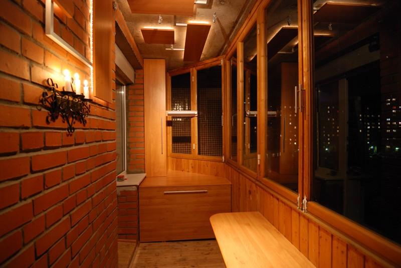 подвесной потолок на балконе фото