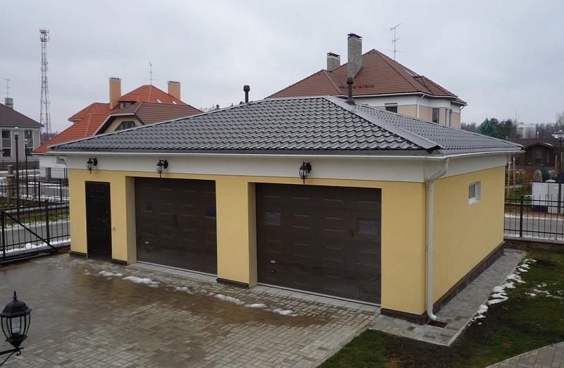 Как сделать крышу на гараже: варианты и технология изготовления