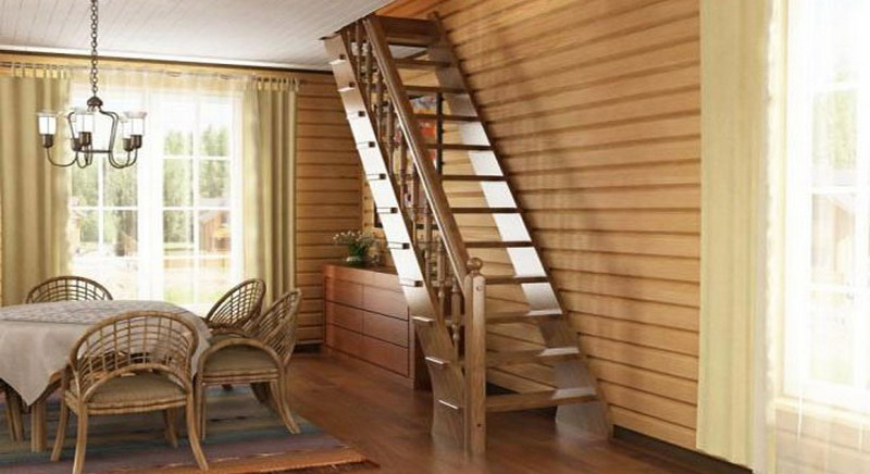 варианты лестниц на мансарду фото