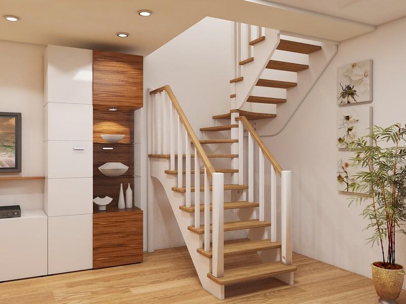 Двухмаршевая лестница: особенности изготовления