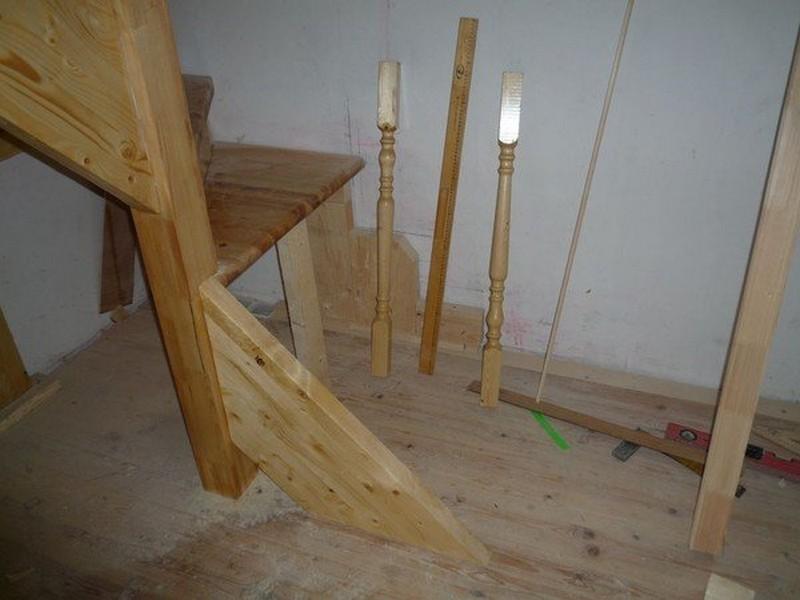 как сделать лестницу с забежными ступенями фото