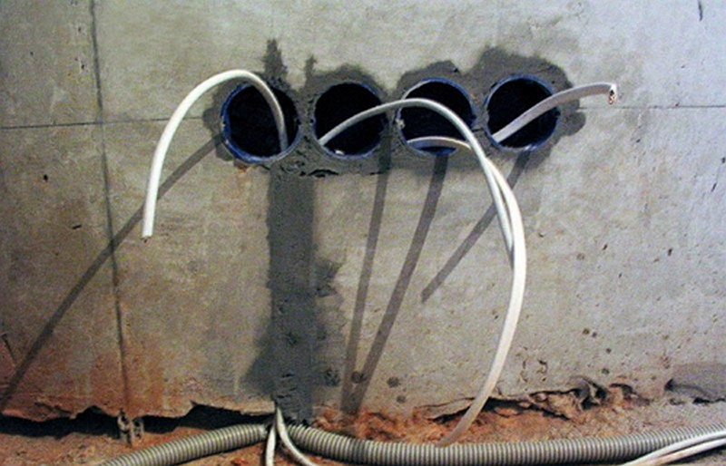 как сделать проводку в гараже фото