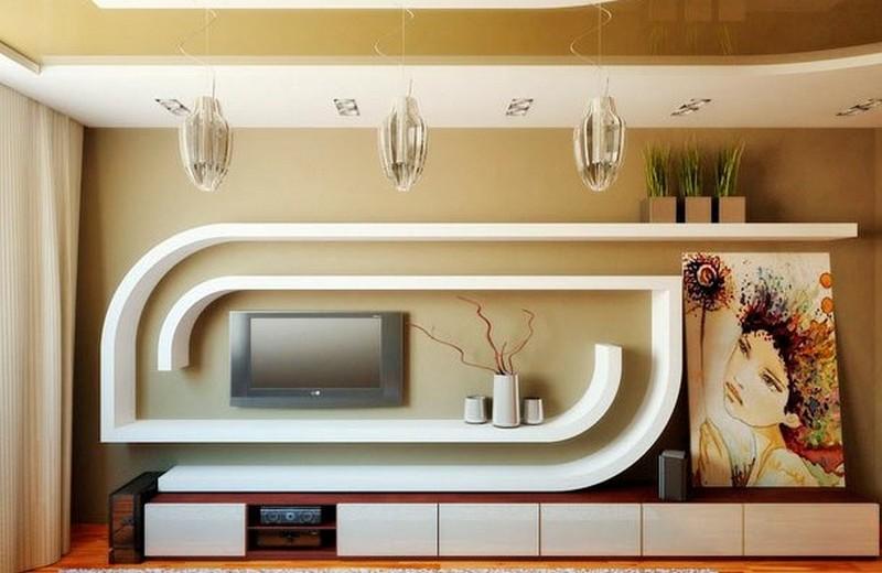 Ниша под телевизор из гипсокартона: ее особенности и самостоятельное изготовление