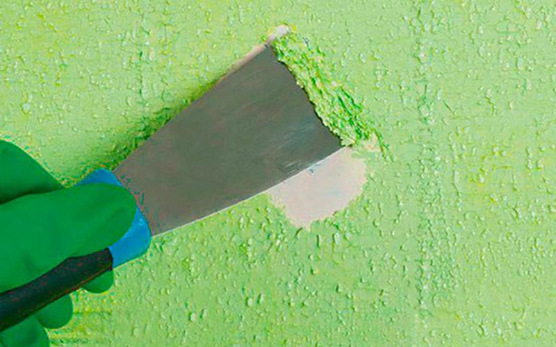 как удалить водоэмульсионную краску фото