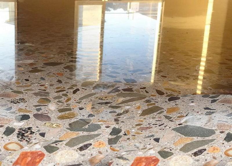 мозаичные полы терраццо фото