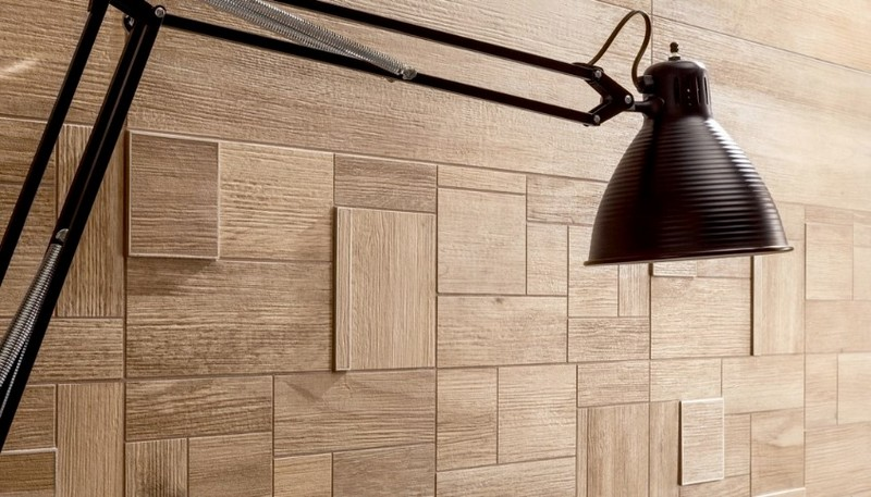 деревянная плитка на стену фото
