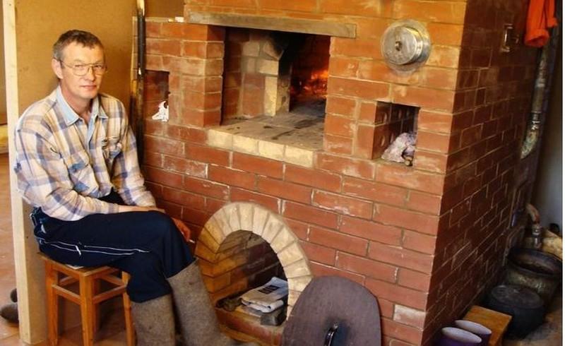 водяное отопление от печи на дровах фото