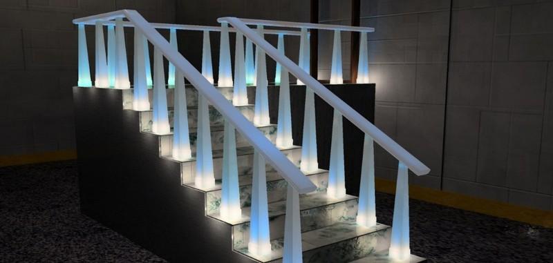 освещение лестницы в доме фото