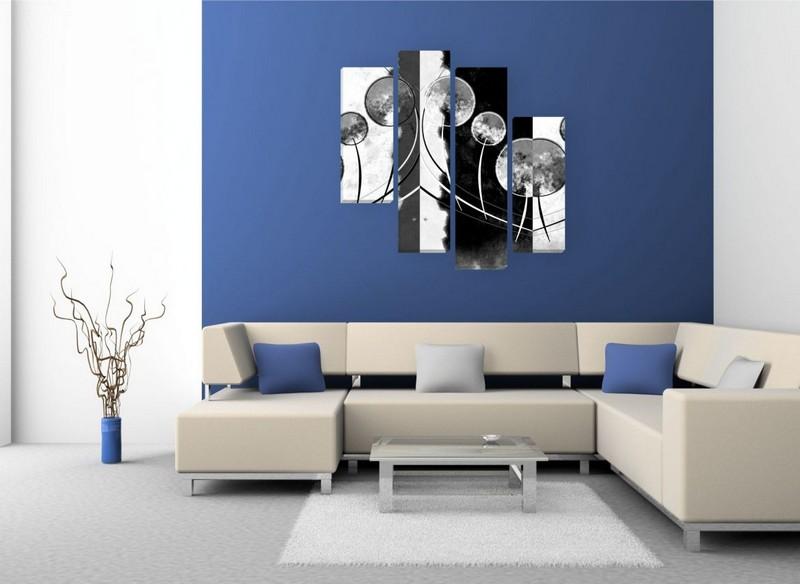 черно белые модульные картины фото