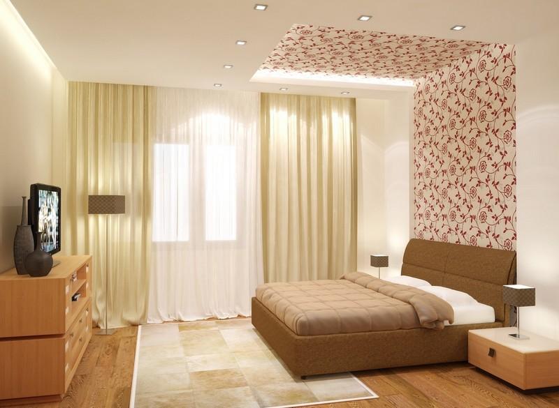 цвет потолка в спальне фото