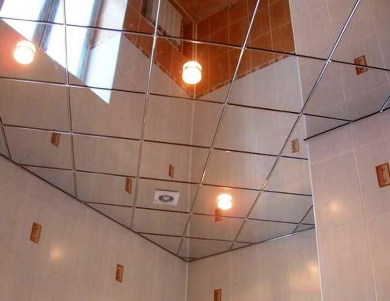 кассетный зеркальный потолок фото
