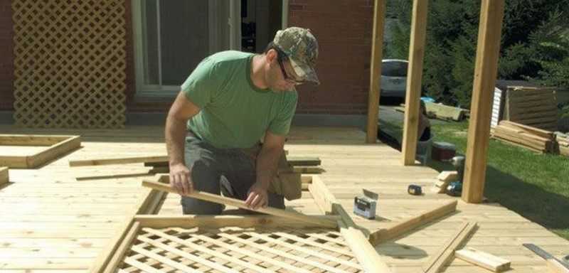 Как сделать деревянную решетку для беседки фото