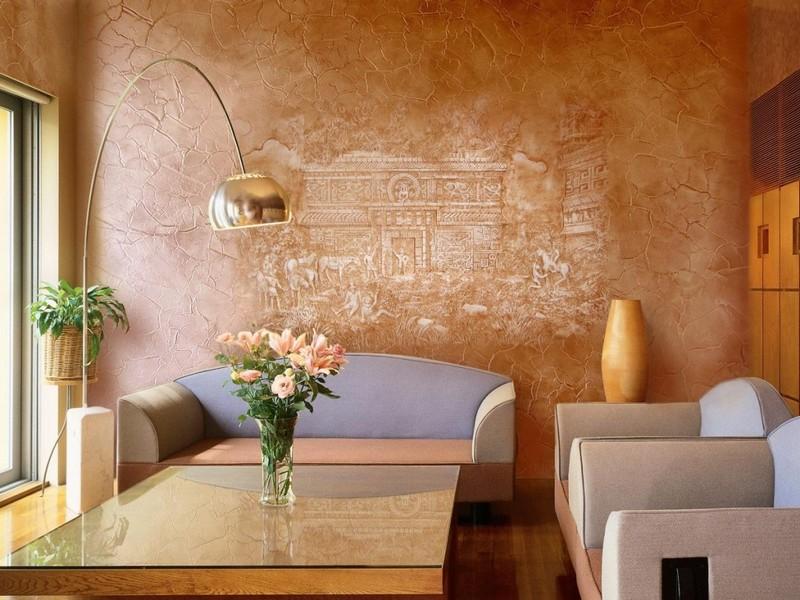 современная отделка стен в квартире фото