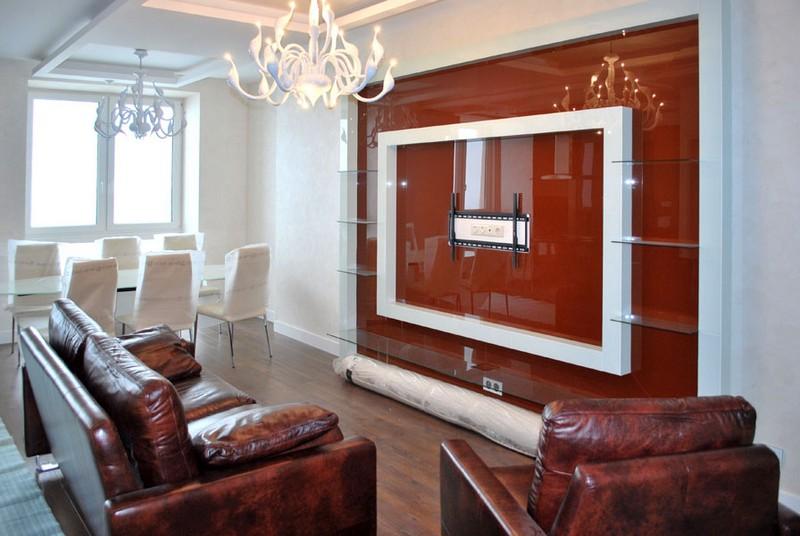 стеклянные панели для стен фото
