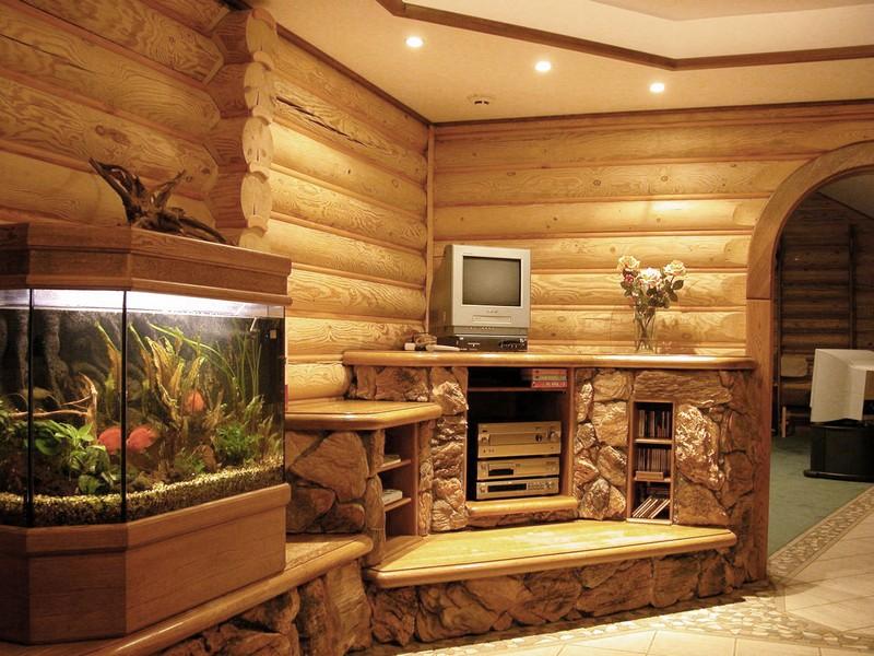 отделка древесиной фото