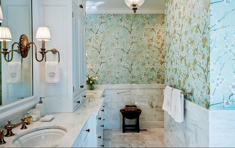 моющиеся обои для ванной фото