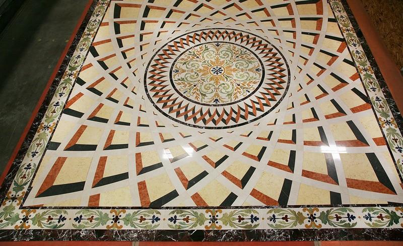 мозаичный пол фото