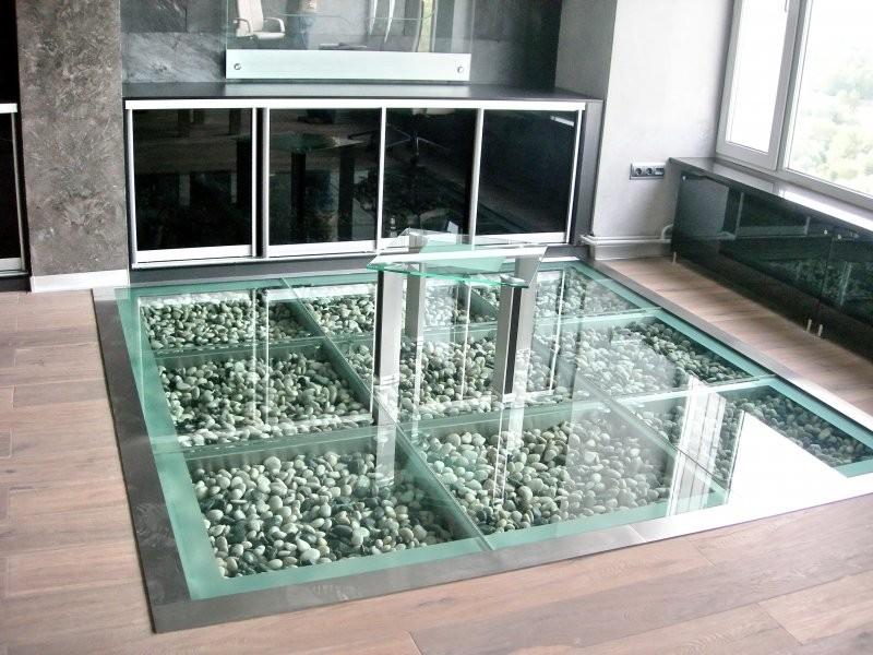 стеклянный пол фото