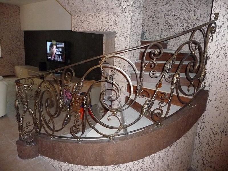 виды кованых перил для лестниц фото