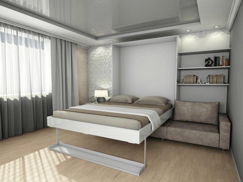 встраиваемая кровать в шкаф фото