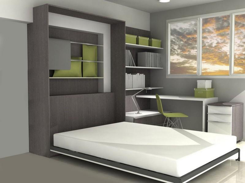 мебель кровать в шкафу фото