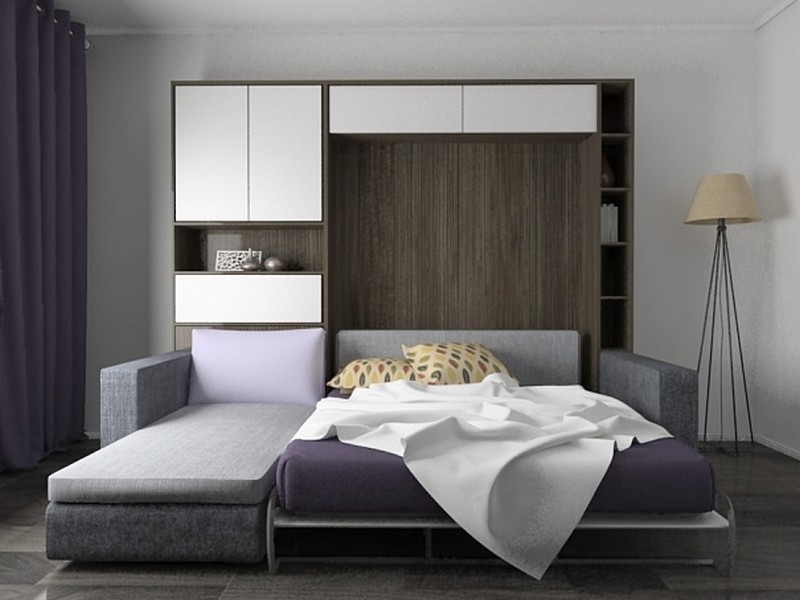 подъемная кровать шкаф фото