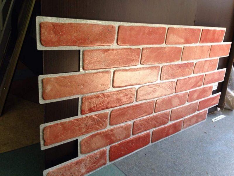 панели для стен под кирпич фото