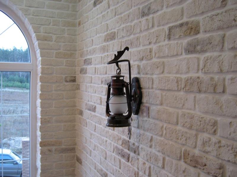 штукатурка стен под кирпич фото