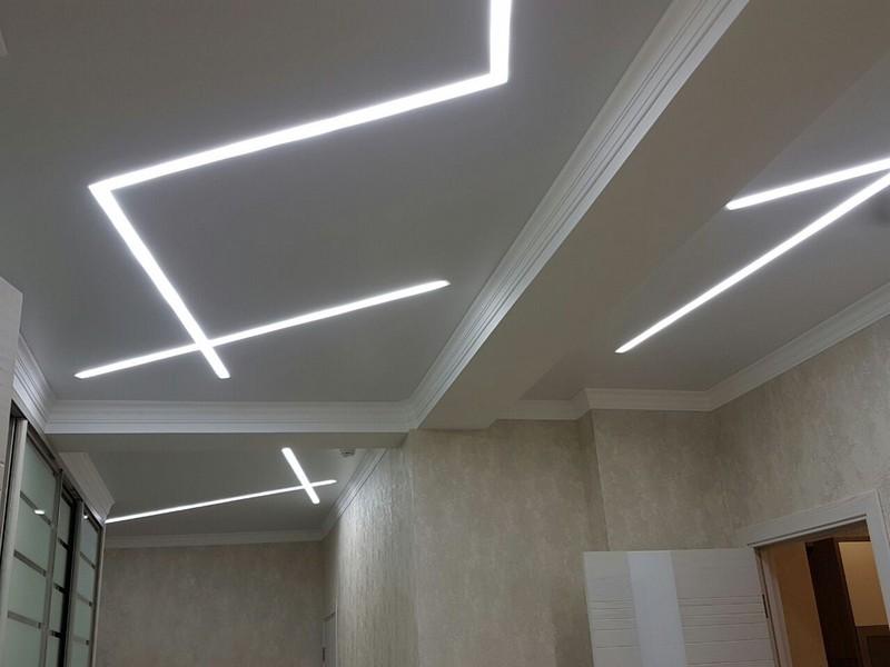 дизайн светового потолка фото