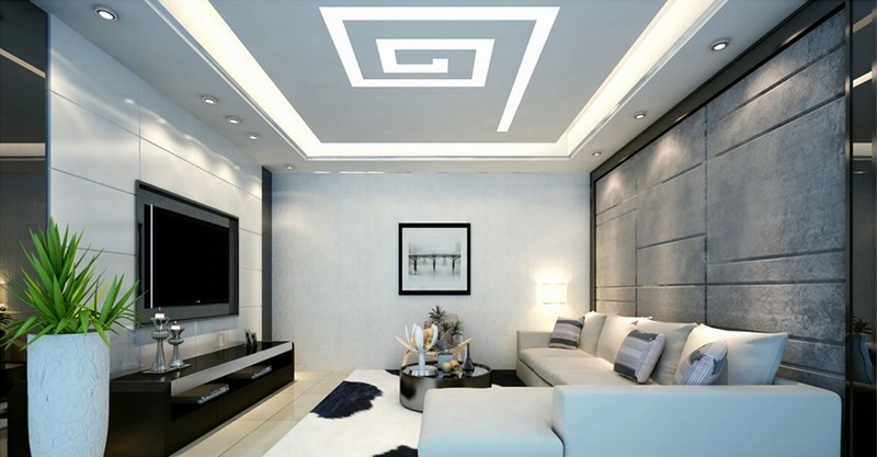 эффектные световые линии на потолке фото