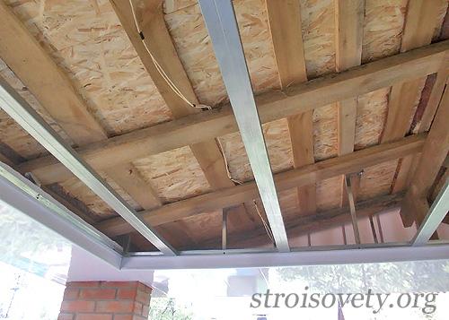 как сделать потолок из пластиковых панелей фото