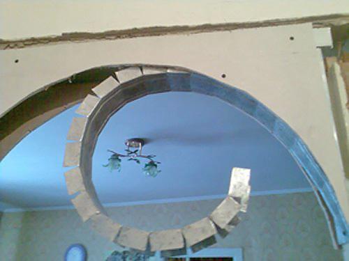 Арка в квартире из гипсокартона своими руками фото