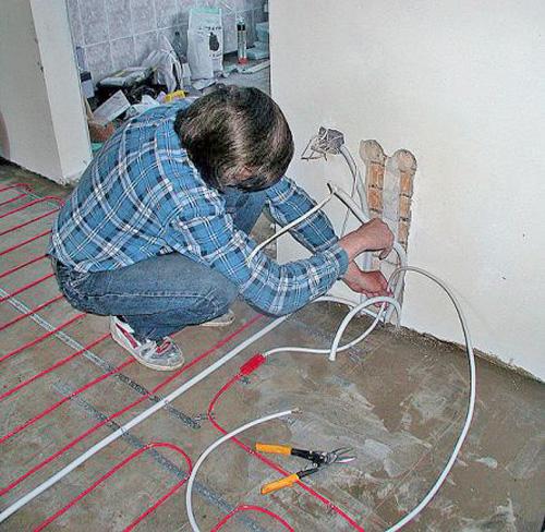 Как установить электрический теплый пол