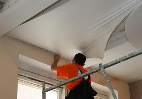технология монтажа натяжных потолков своими руками