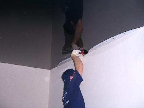 установка натяжного потолка своими руками фото