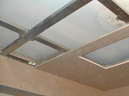установка гипсокартона на потолок своими руками