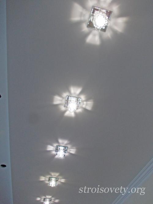 инструкция как устанавливать точечные светильники с пошаговыми фото