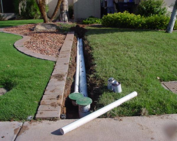 дренаж садового участка с трубами фото