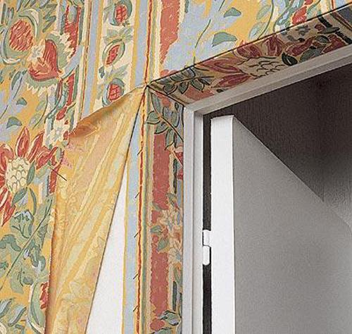 декорирование стен тканью своими руками фото